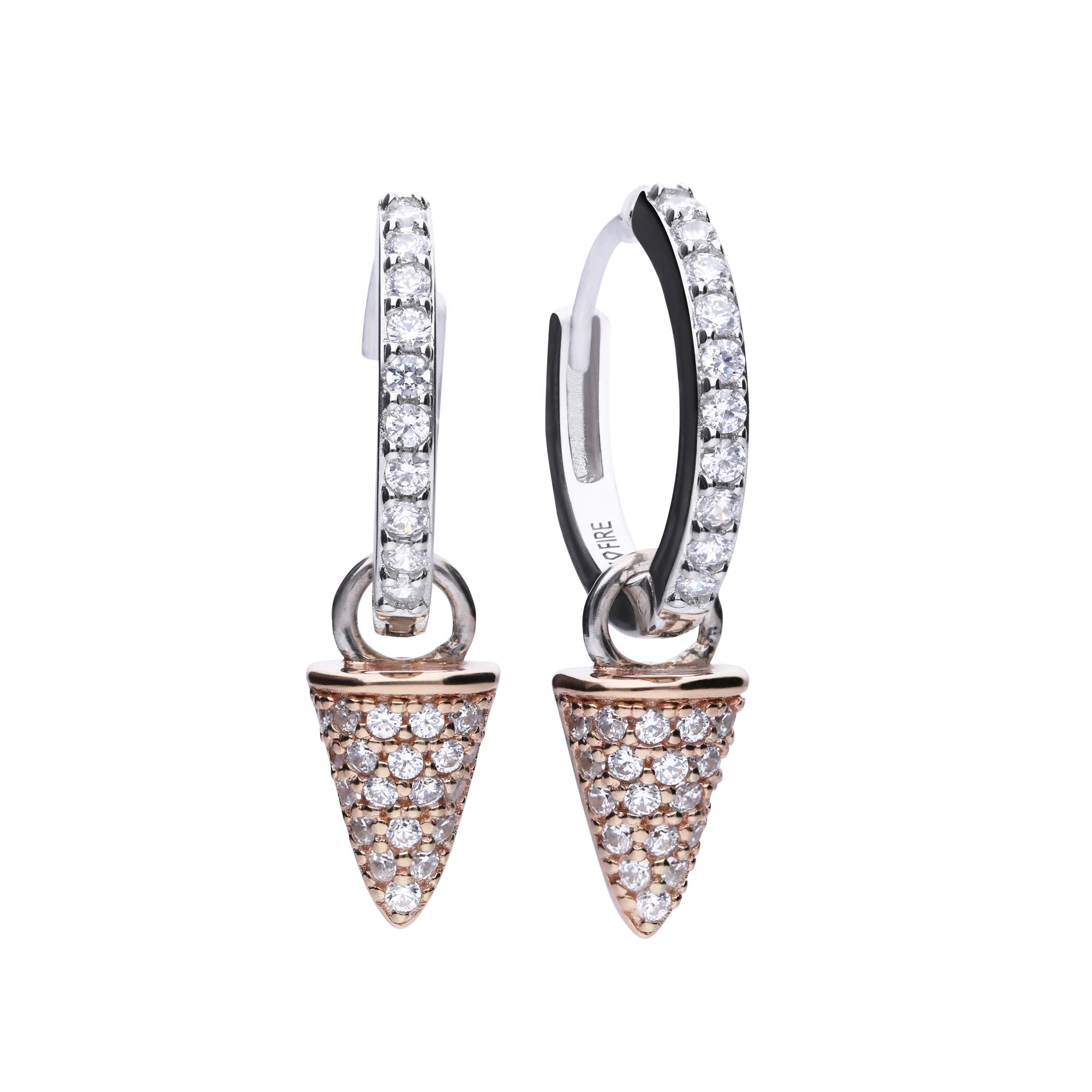 Ohrhänger Silber 925 bicolor Hänger Kegel vergoldet große Ohrringe kegelförmig
