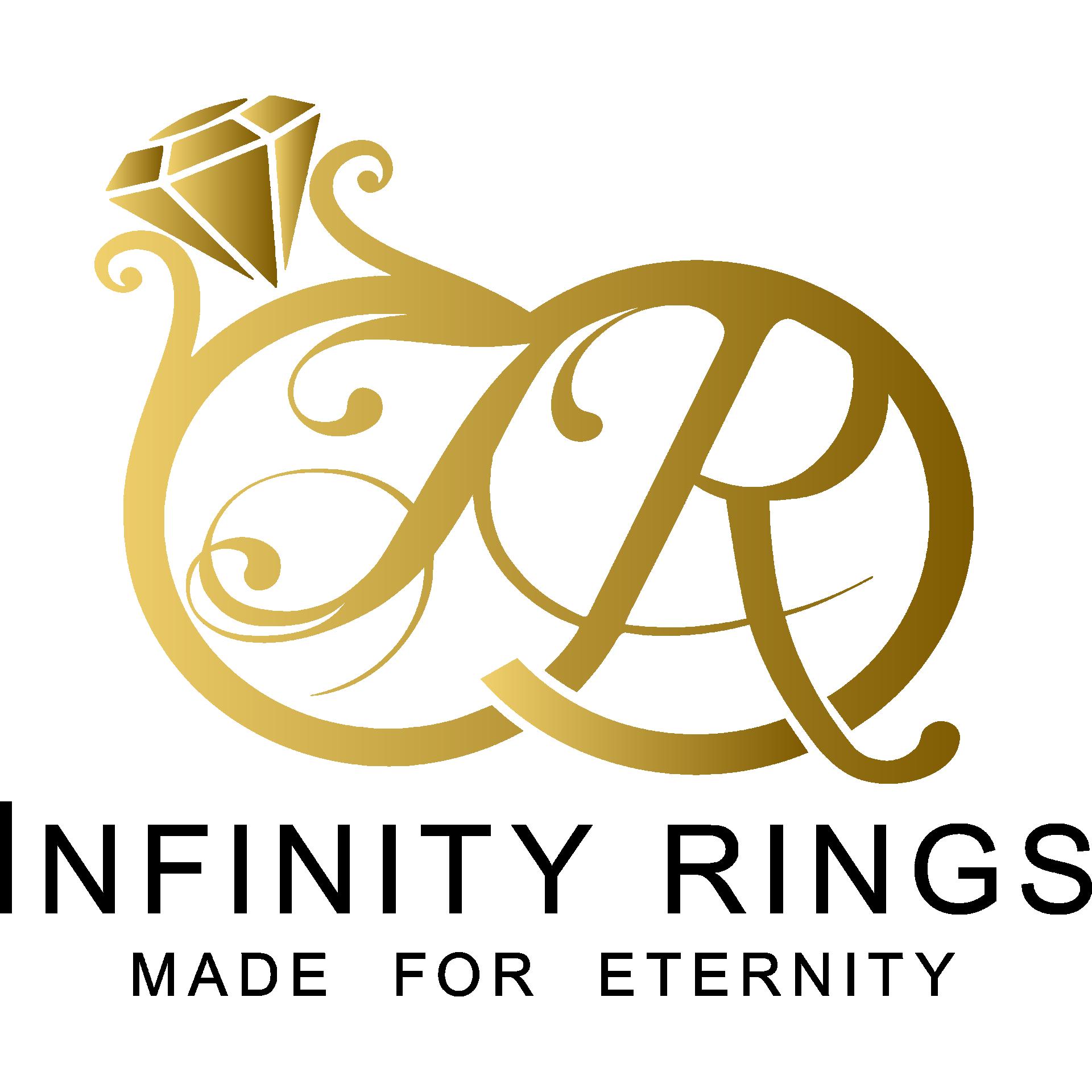 Infinity-Armband roségold mit Zirkonia-Steinen