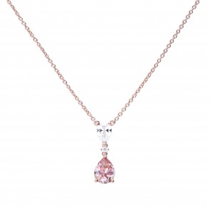 Filigranes Collier roségold mit morganite Zirkonia
