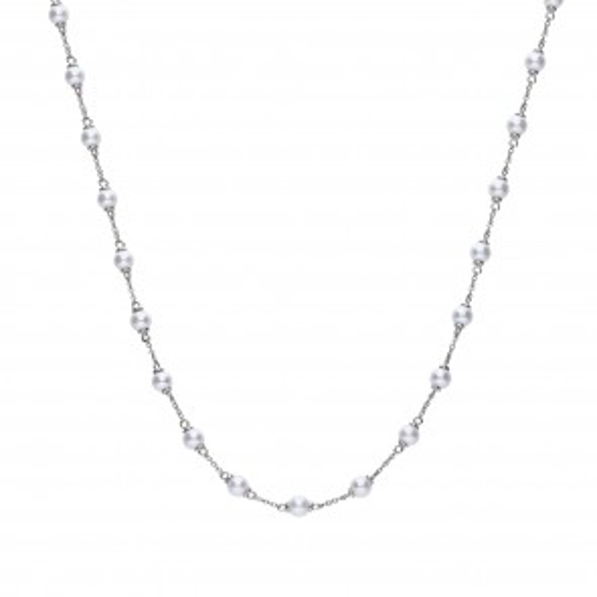 Klassisches Perl-Collier Silber 925